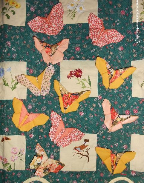 jardin textile d'Amélie et éclosion de papillons au printemps