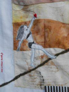 art textile, Varaignes 2018,3) détail
