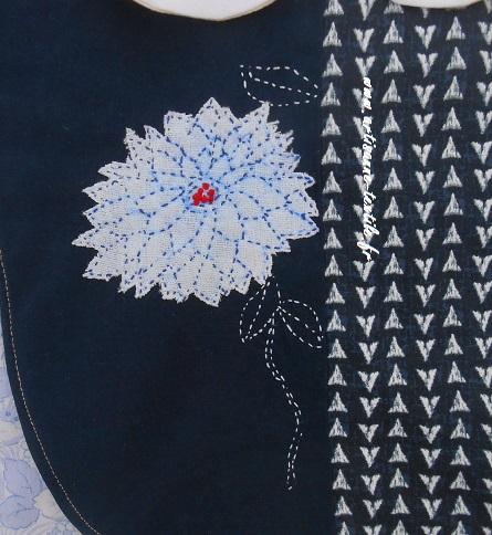 sashiko détail: le chrysanthème