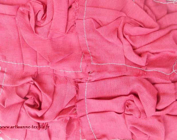 jardin textile : roses origami Amélie (1)