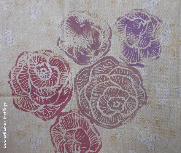 roses en linogravure 4