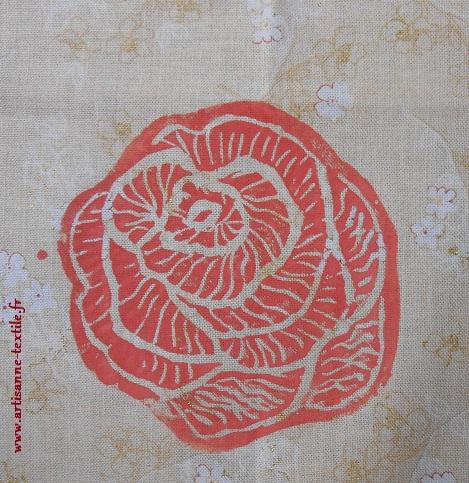 rose en linogravure 1