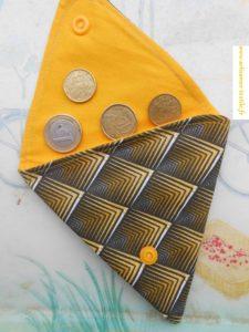 Rose et porte-monnaie plat triangulaire 3