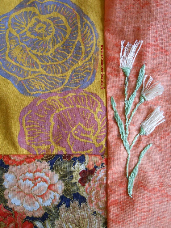 broderie en relief 1: fleurs frangées