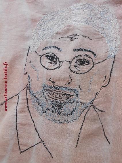 sac d'artiste, portrait au piqué libre