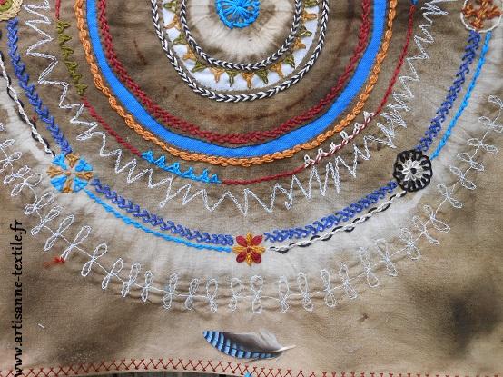 détail du 4° mandala textile de la légèreté