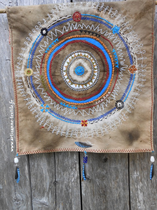 Mandla textile pour expositionn Orient- occident