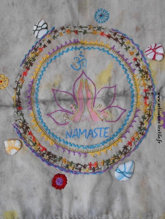 Namasté, mandala textile 1