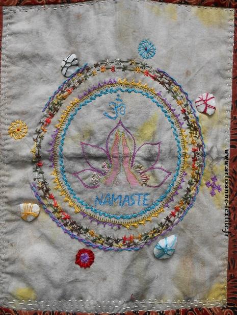 Namasté, mandala textile 2