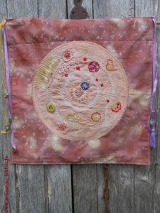 mandala textile de la guérison intérieure