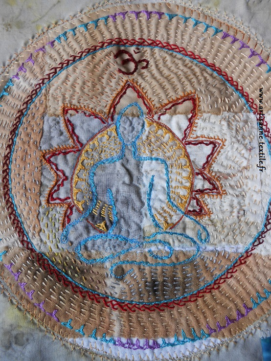 Mandala textile du yogi 1