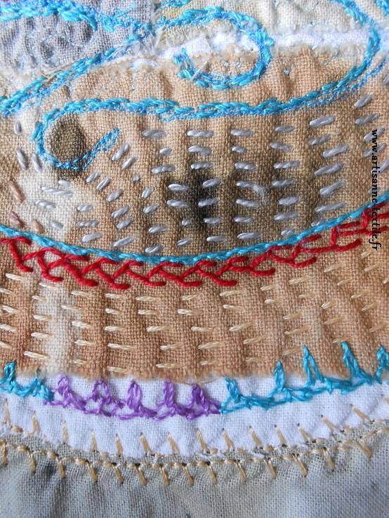 détail 2 du mandala textile du yogi