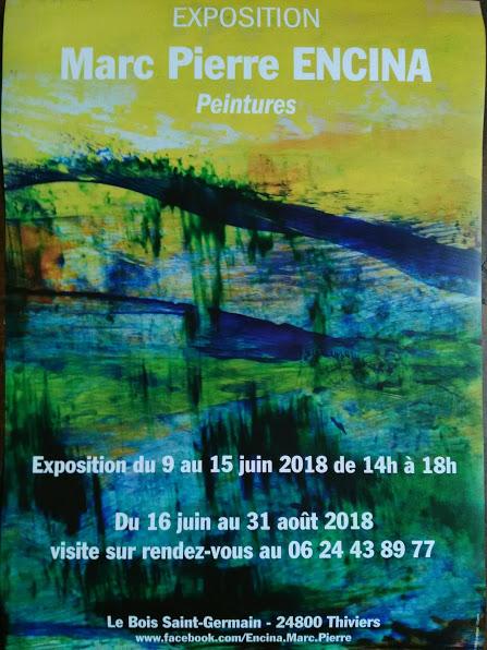 affiche expo Marc Pierre Encina