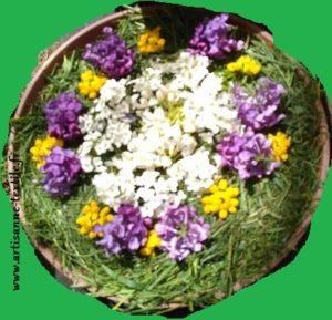 mandala à fleurs