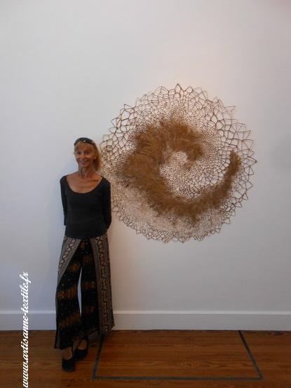Exposition fondation Datris 2018, artisane textile