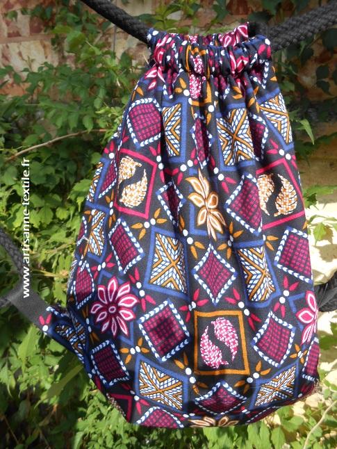 plaisir 2: sac à dos en tissu indien