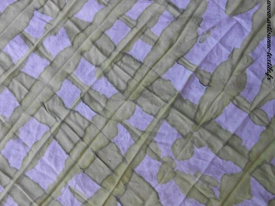 Résultat 1 du plissage dans les 2 sens et avant exposition