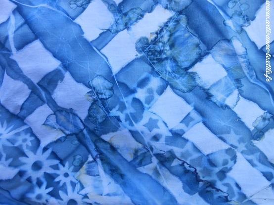 plissage multiple pour cyanotype