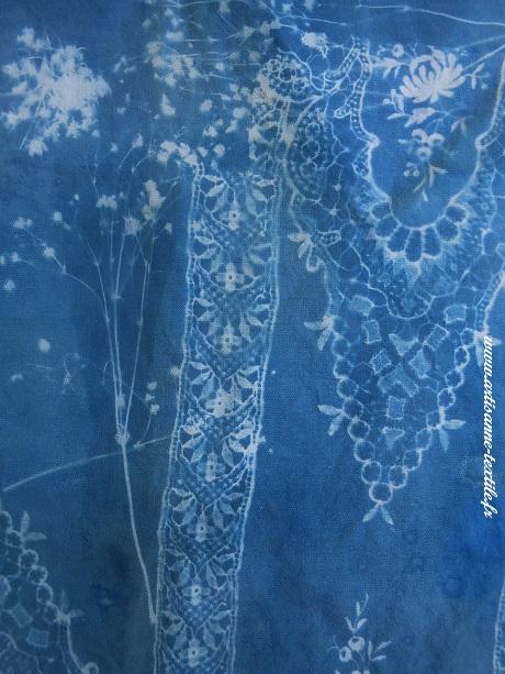 sans association de techniques, cyanotype sur tissu