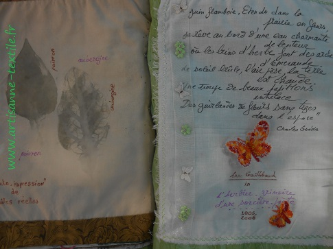 feuilles martelées du livre textile 2
