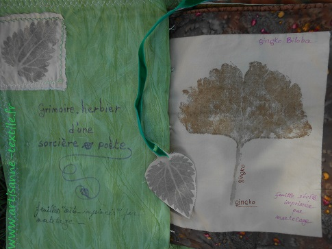 feuilles martelées du livre textile 3