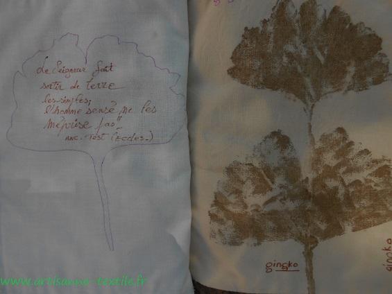 feuilles martelées du livre textile 4