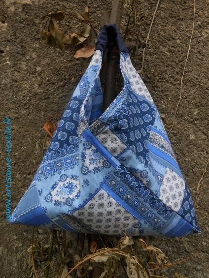 bleu le sac origami