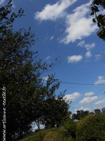 expériences -cyanotype: le ciel a chaviré