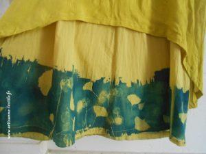expérimentations -cyanotype la robe