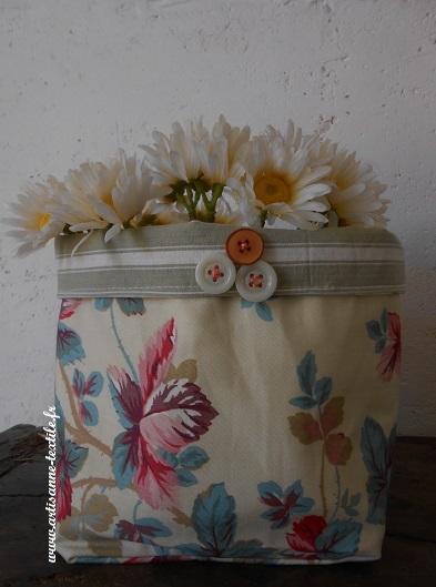 corbeille textile vintage 1