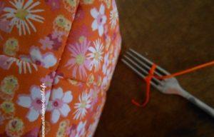Corbeille textile: les noeuds