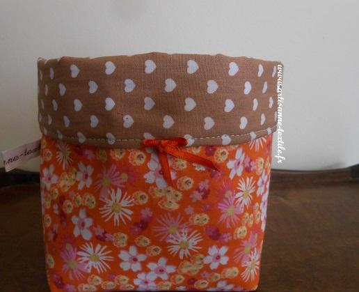 corbeille textile 2 fleurie