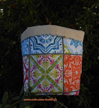 Corbeille textile Mosaïque