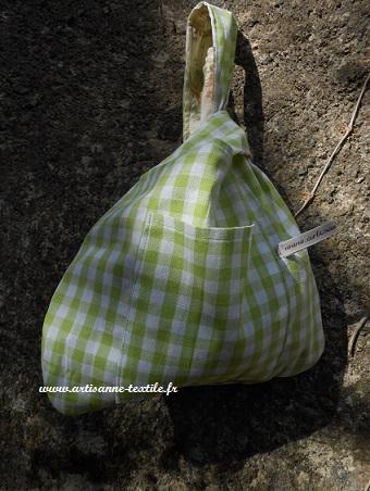 sac- baluchon ou grab bag en Vichy