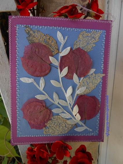femme: une carte fleurie