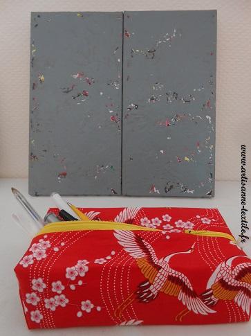 Trousse rouge à Zip et peinture de Marc- Pierre Encina