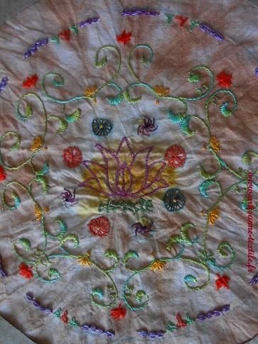 Mandala textile 8, la broderie 2