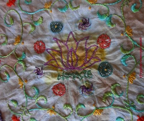 Mandala textile 8, la broderie 3