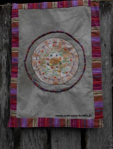Mandala textile 8: le montage 1