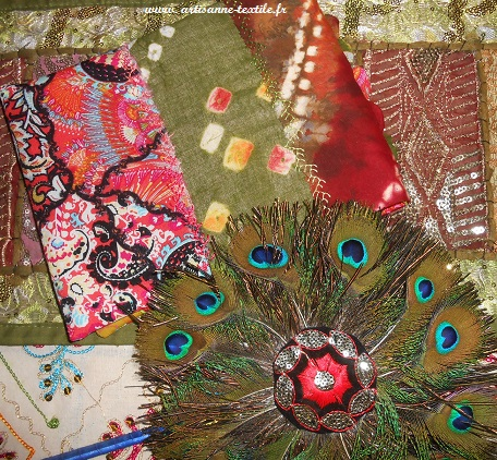 journal textile de voyage 7: le dos