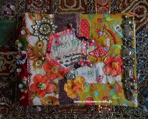 journal textile de voyage en Inde 7: le dessus 1