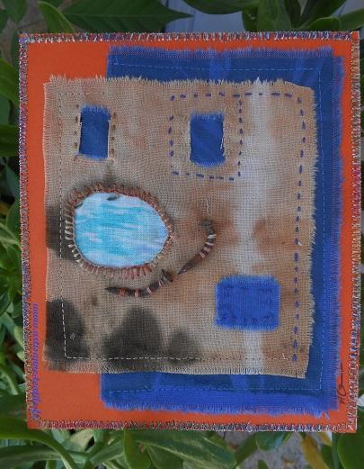 2° des trois cartes textiles et found object