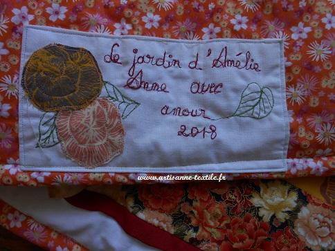 Le jadin d'Amélie: étiquette du quilt