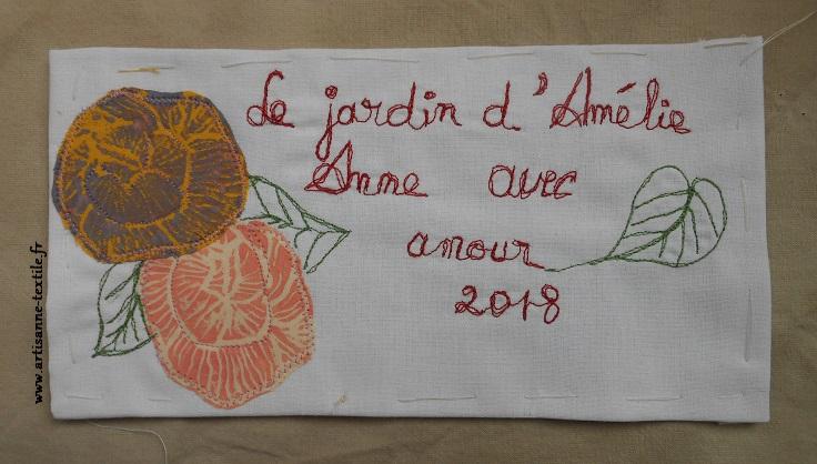 etiquette jardin Amélie piqué libre