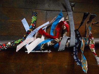 bandeaux-turbans en tissu et fil métal