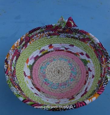 corbeille textile de l'artisane