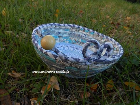 Corbeille textile bleue