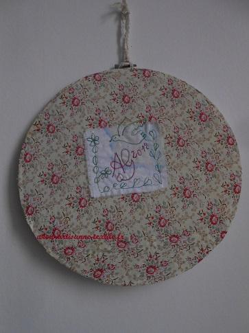 tissu vintage pour le dos du cercle à broder 2