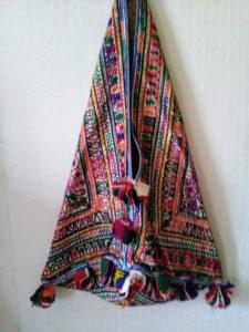 sac indien rappporté d'un voyage au Gujarat