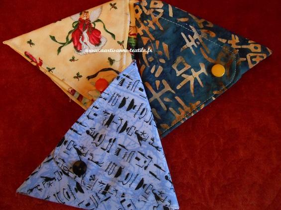 commande textile: les porte-monnaie triangulaires 2